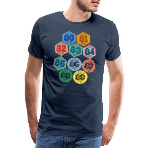 Vignettes automobiles années 80 - T-shirt Premium Homme