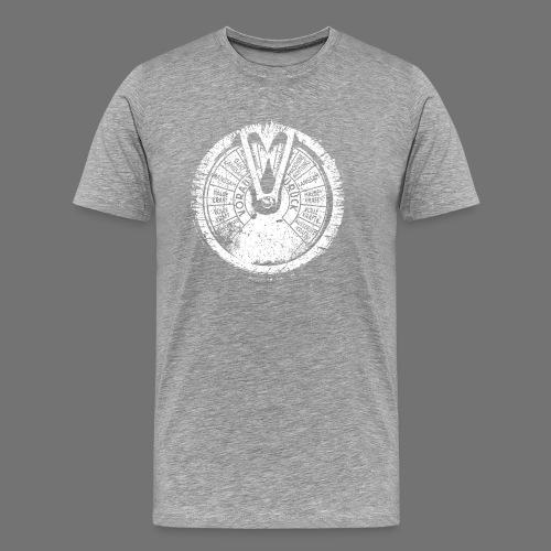 Maschinentelegraph (biały oldstyle) - Koszulka męska Premium