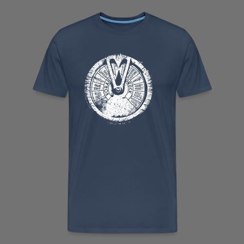 Maschinentelegraph (white oldstyle) - Premium T-skjorte for menn