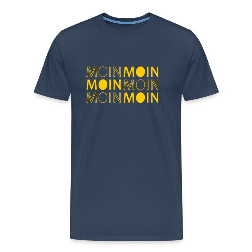 Norddeutsch Plattdeutsch Moin Begrüßung im Norden - Männer Premium T-Shirt