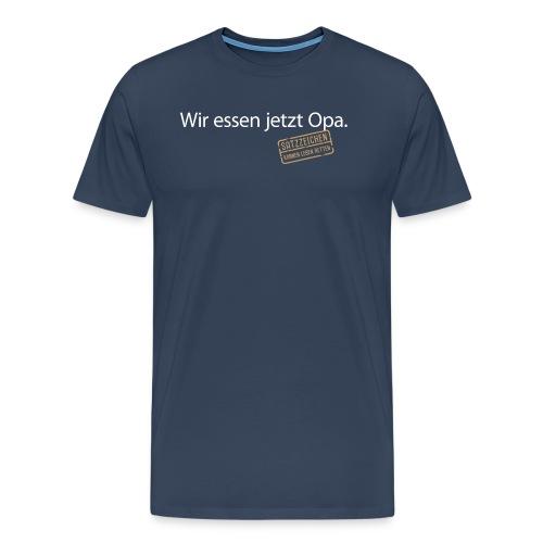 Wir essen jetzt Opa Satzzeichen Grammatik Sprache - Men's Premium T-Shirt