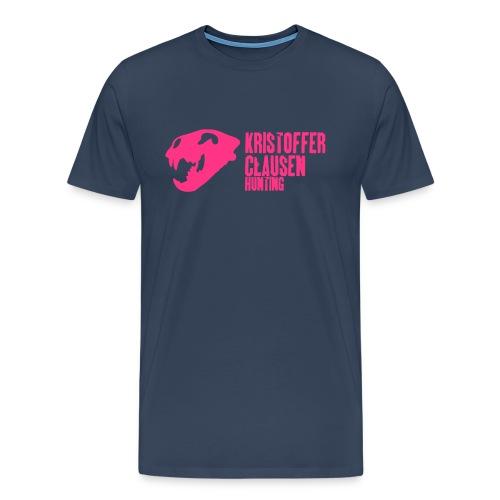 krisclausen sorthvit1 - Premium T-skjorte for menn
