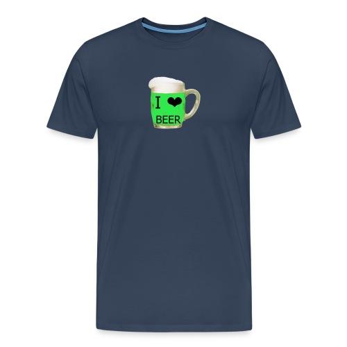 ich liebe Bier gruen - Männer Premium T-Shirt