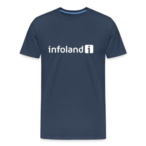 Infoland Logo - Mannen Premium T-shirt