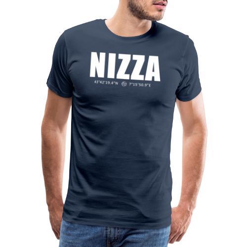 Nizza Coordinate (Testo chiaro) - Maglietta Premium da uomo