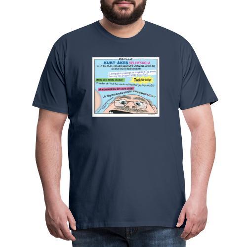 Kurt-Åkes selfieskola - Premium-T-shirt herr
