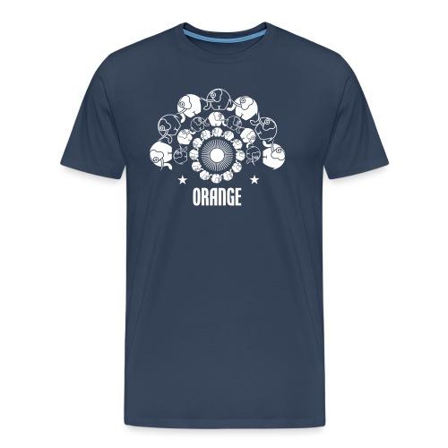 Orangevibes Logo weiss - Männer Premium T-Shirt