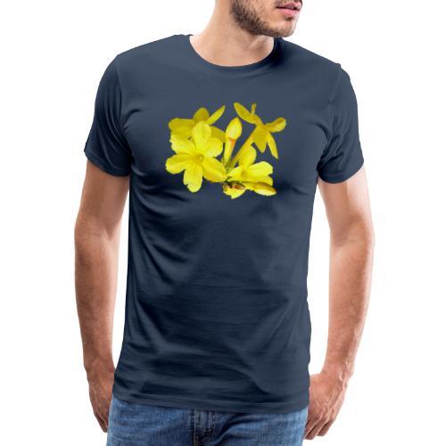 Winterjasmin Jasmin gelb Duft Zierpflanze Strauch - Männer Premium T-Shirt