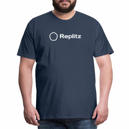 Replitz Hosting Services (Blue/White) - Men's Premium T-Shirt