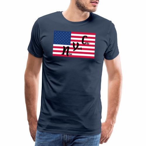 America Flag NYC - Männer Premium T-Shirt