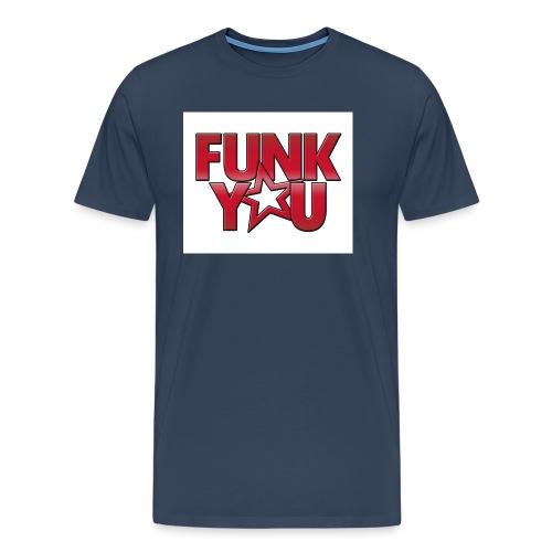 fy_logo_bg_weiss_fr_red - Männer Premium T-Shirt