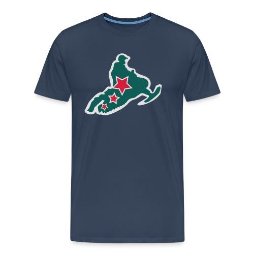 Logosymbol scooterforum - Premium T-skjorte for menn