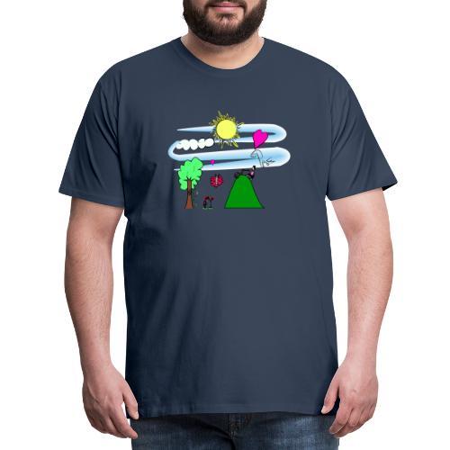 Paz en la Montaña - Camiseta premium hombre