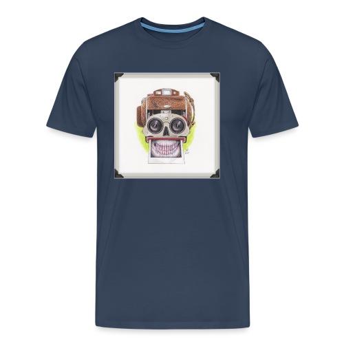 happy skull stereo cam - Männer Premium T-Shirt