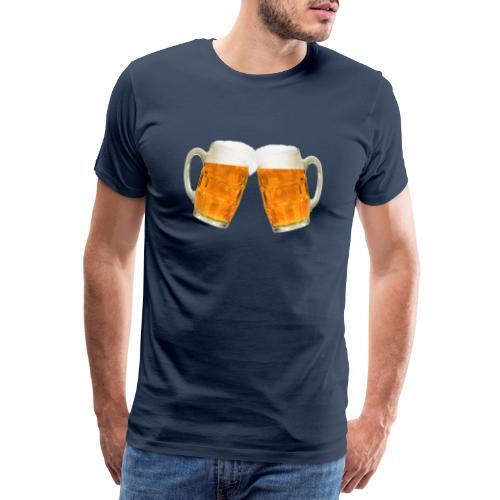 Zwei Bier - Männer Premium T-Shirt