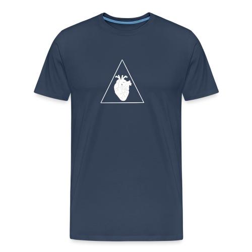 Herz Dreieck - Männer Premium T-Shirt