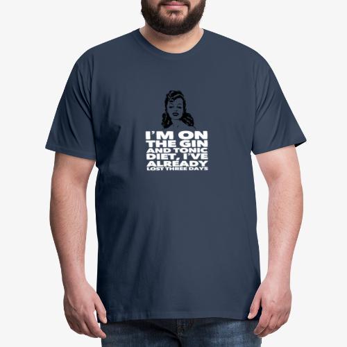 Vintage lady funny quote - Men's Premium T-Shirt
