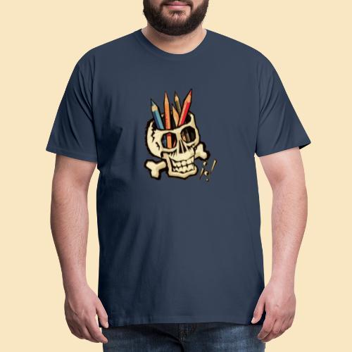 Pencilskull - Männer Premium T-Shirt