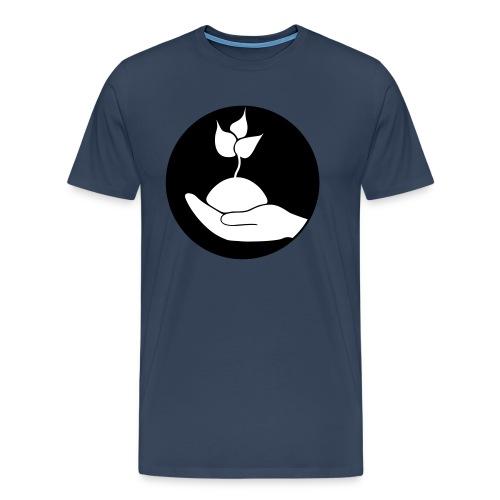 plant in hand, Pflanze in der Hand - Männer Premium T-Shirt