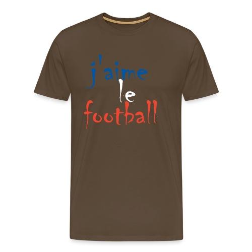 j' aime le football - Männer Premium T-Shirt