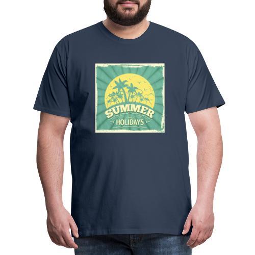 conception lettres ete - T-shirt Premium Homme