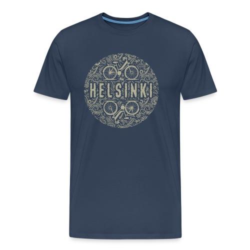 HELSINKI BICYCLE LIFE Textiles, Gifts for You! - Miesten premium t-paita