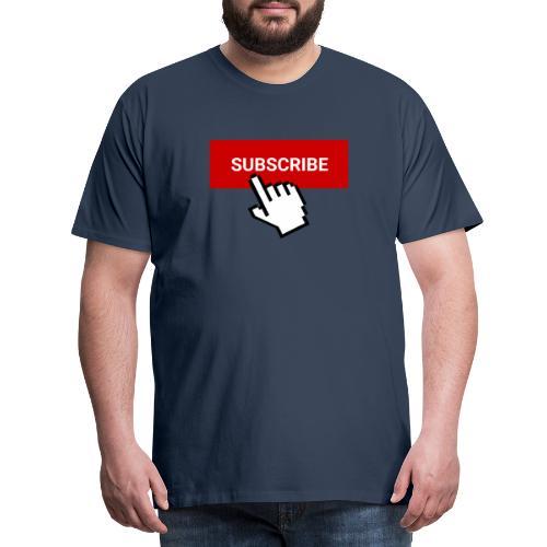 youtube subscribe button & cursor (1) - Men's Premium T-Shirt