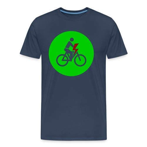 e bike grün Schild Logo Emblem - Farben änderbar - Männer Premium T-Shirt