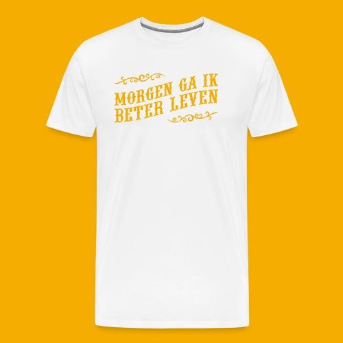 tshirt yllw 01 - Mannen Premium T-shirt
