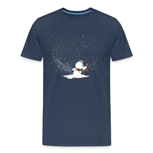 Schneemann im Sturm - Männer Premium T-Shirt