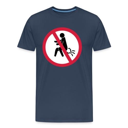 NO Farting Sign - Men's Premium T-Shirt