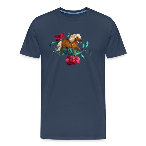 Kamelien Pony - Männer Premium T-Shirt