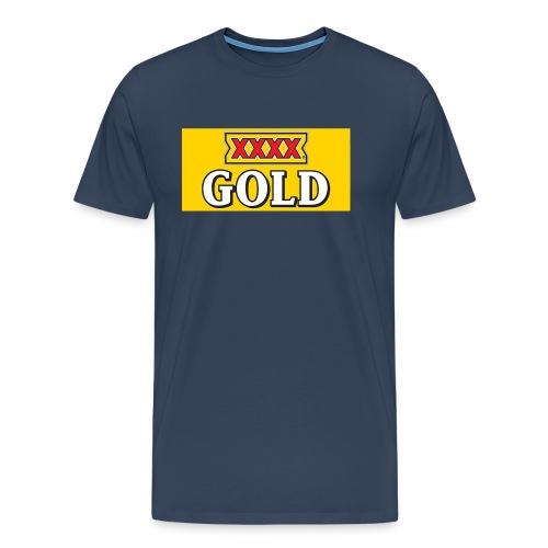 Gold Stubby Logo Beer - Men's Premium T-Shirt
