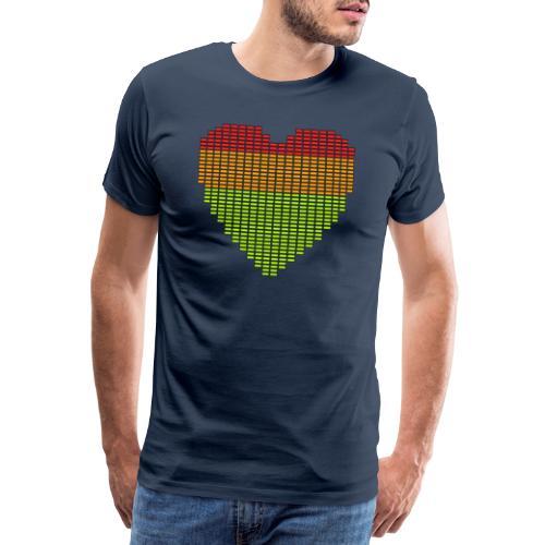 Techno EQ Equalizer Musik Herz Anzeige - Männer Premium T-Shirt