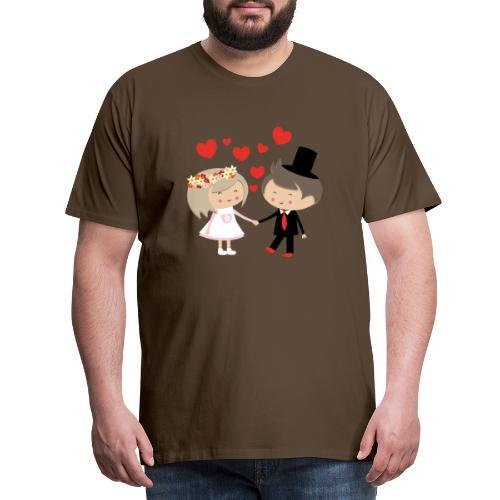 Happy Meitlis - Hochzeitspaar - Männer Premium T-Shirt