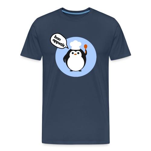 Cute penguin chef - Men's Premium T-Shirt
