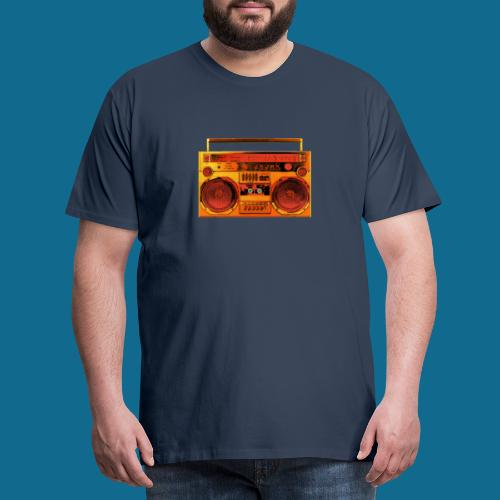 Ghettoblaster Orange - Männer Premium T-Shirt
