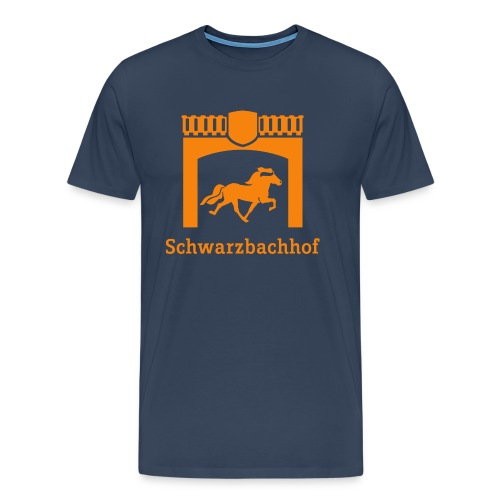 Logo Schwarzbachhof Orange - Männer Premium T-Shirt