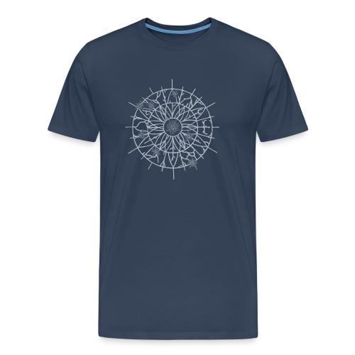 Edelweiss Wheel T-Shirt Marine - T-shirt Premium Homme