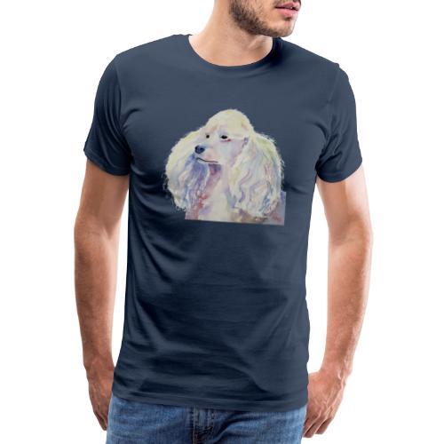 poodle standard white - Herre premium T-shirt