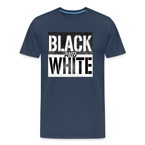 Black and white - T-shirt Premium Homme