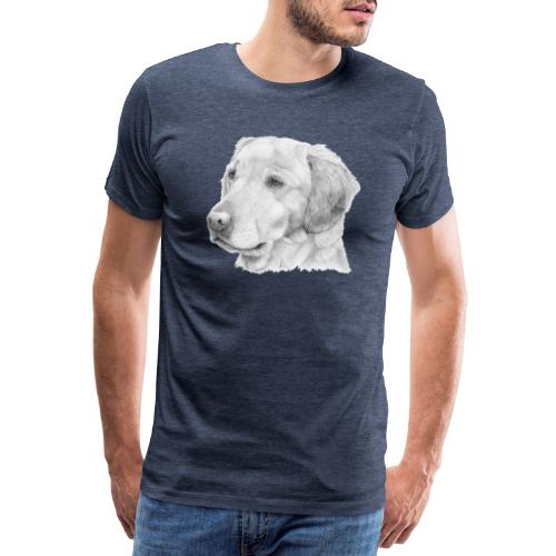 Golden retriever 2 - Herre premium T-shirt