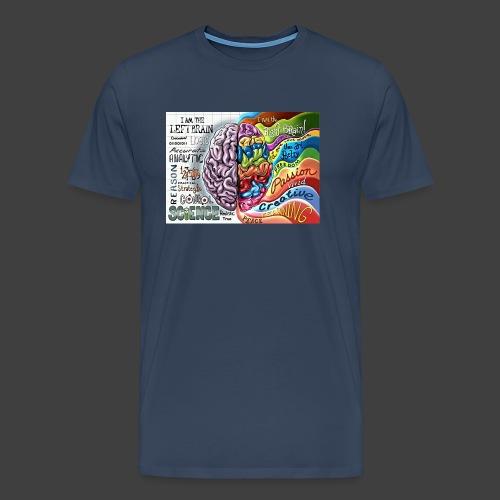 Brain LR - Men's Premium T-Shirt
