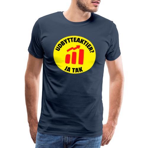 Udbytteaktier - Ja tak - Herre premium T-shirt