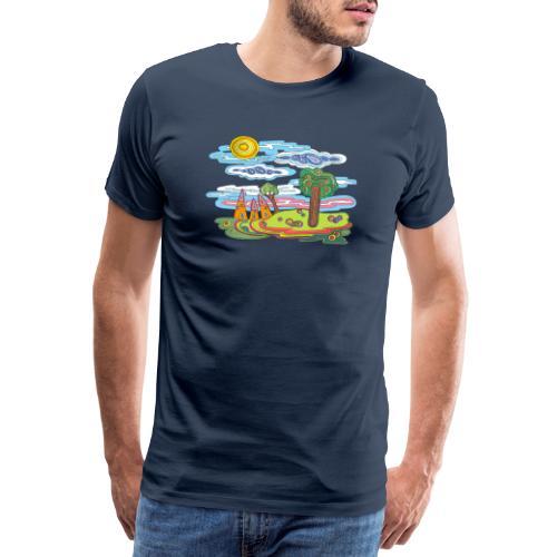 Paysage fantastique - T-shirt Premium Homme