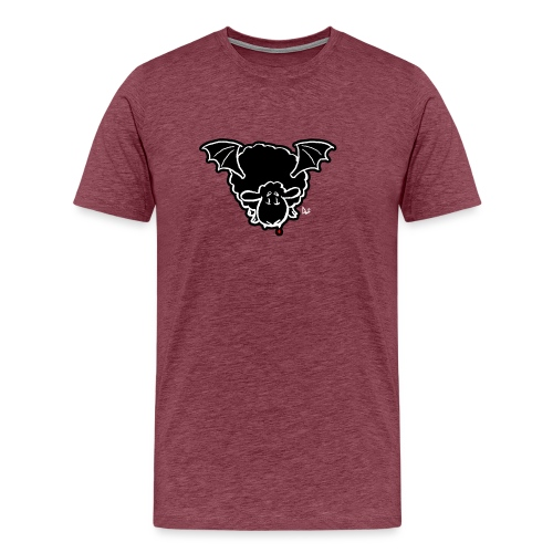 Vampire Sheep (white) - Men's Premium T-Shirt