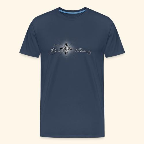 Chroniken Schriftzug hell - Männer Premium T-Shirt