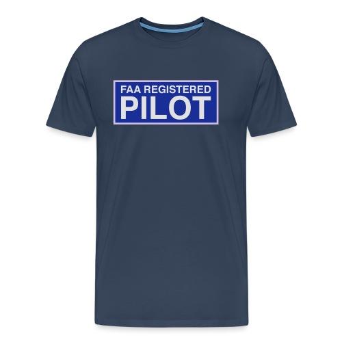 faa part 107 registered pilot - Men's Premium T-Shirt