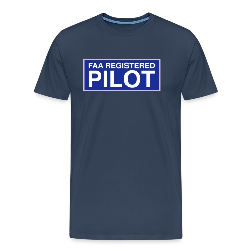 faa part 107 registered pilot - Men's Premium T-Shirt