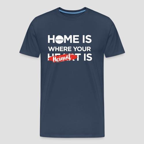 Home Heimat Heart Black - Männer Premium T-Shirt